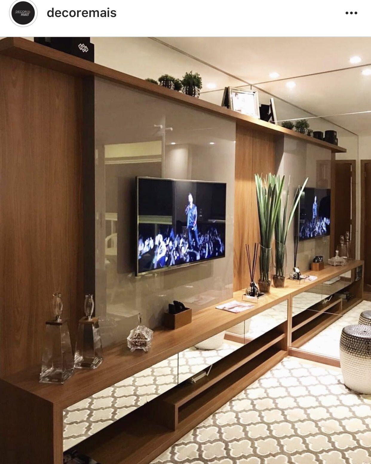 Pin Do A Luciane Borges Do Carmo Em Home Living Rooms Pinterest  -> Parede De Sala Diferente