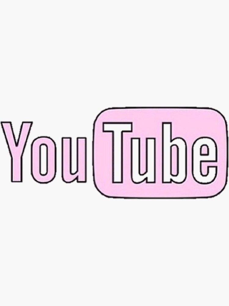 Rosa Youtube Sticker Von Erinaugusta In 2020 Youtube Logo Snapchat Logo Cute App