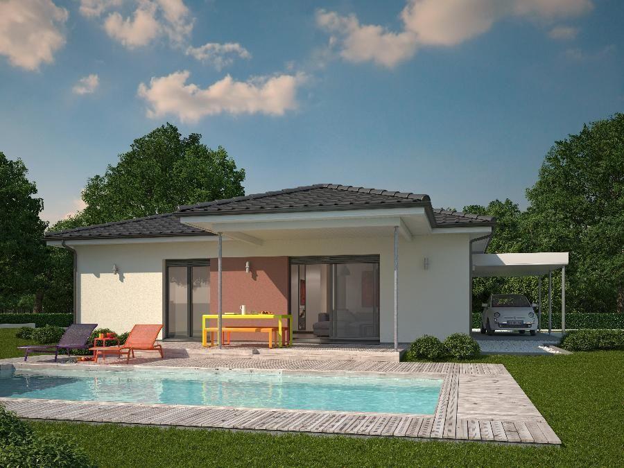 Contra fachada casa de una planta y tres dormitorios en 90 for Casa minimalistas de 90 metros cuadrados
