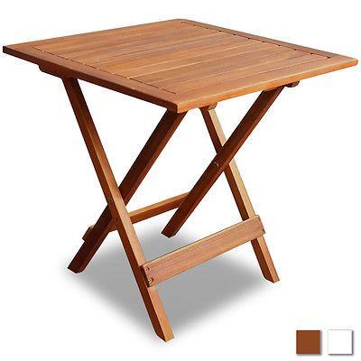 Akazie Gartentisch Holztisch Beistelltisch Kaffeetisch Klapptisch