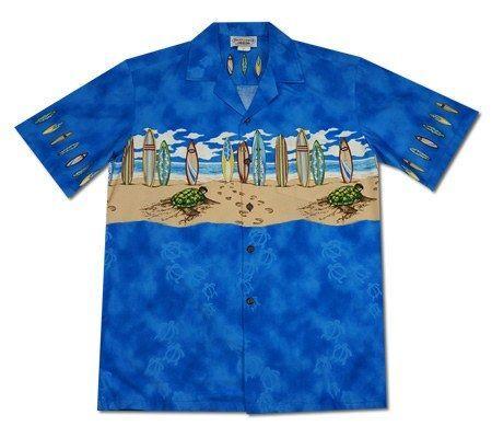 58f82378 Turtle Surf Blue Hawaiian Border Aloha Sport Shirt #hawaiianshirt  #vintagehawaiianshirts #hawaiianshirts #cheaphawaiianshirt