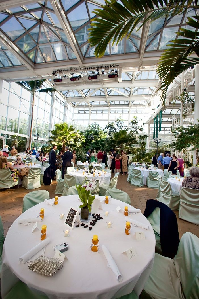 Beautiful Wedding Reception Setup In The Conservatory