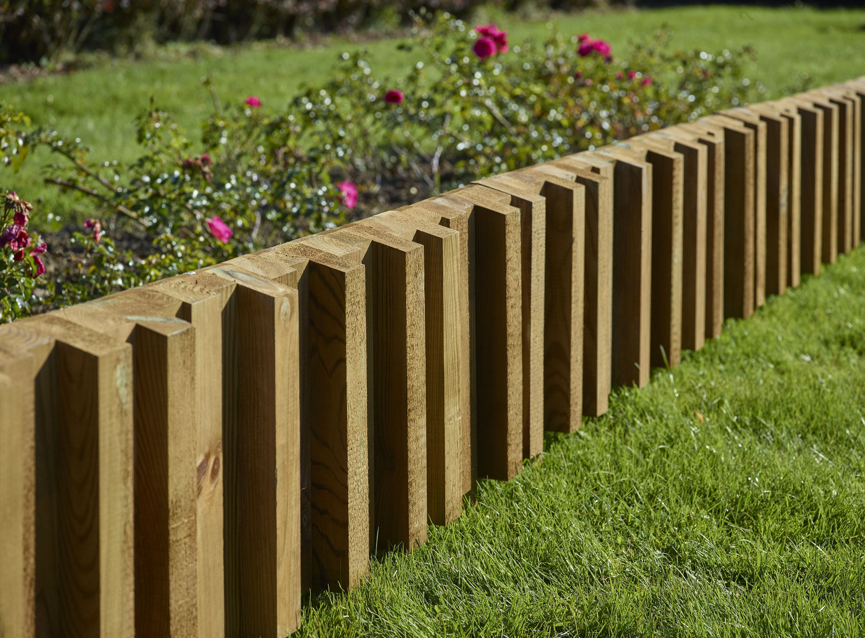 bordure en bois design et tendance pour
