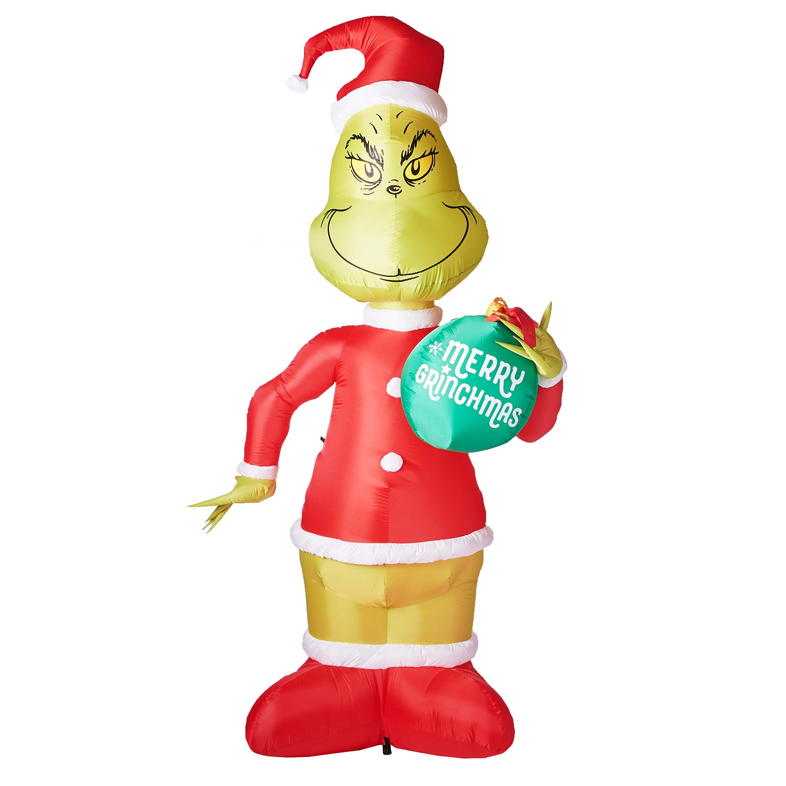 Gemmy 7 Ft Grinch with Ornament Airblown Lighted Christmas Yard