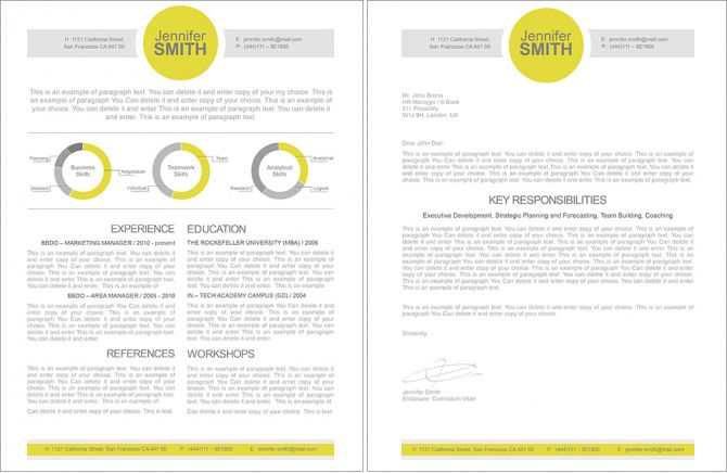 Resumeway  Premium Line Of Resume  Cover Letter Templates Ms