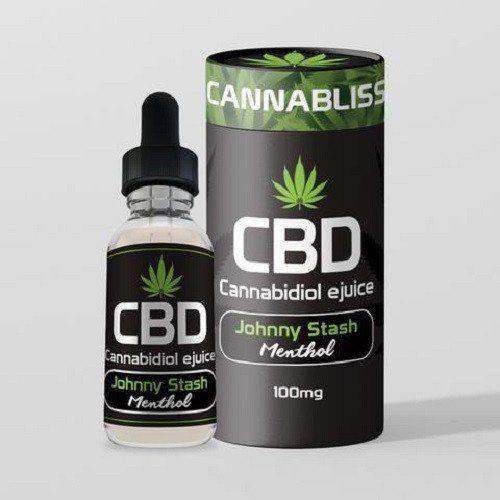 CBD e-Liquid by Cannabliss - 100mg - Johnny Stash - Menthol