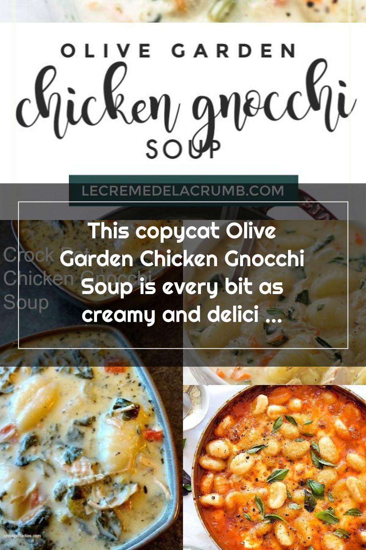 Cette soupe aux gnocchis au poulet Olive Garden est tout aussi crémeuse et délicieuse que la