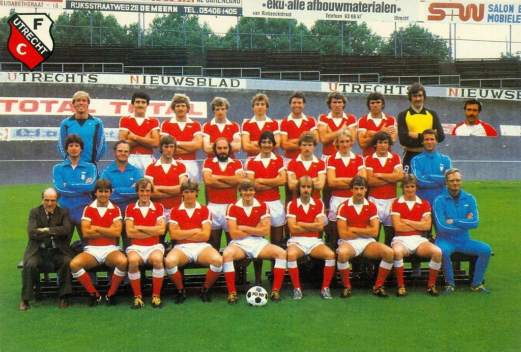 FC Utrecht of Holland team group in 1980-81  | 1980s