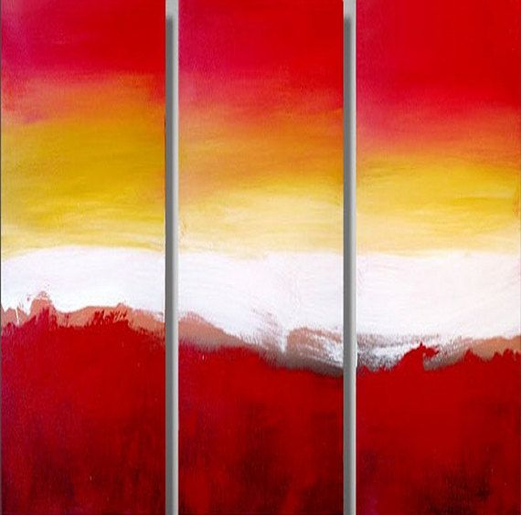 EXTRA LARGE WALL art triptych 3 panel wall by wrightsonarts | large ...