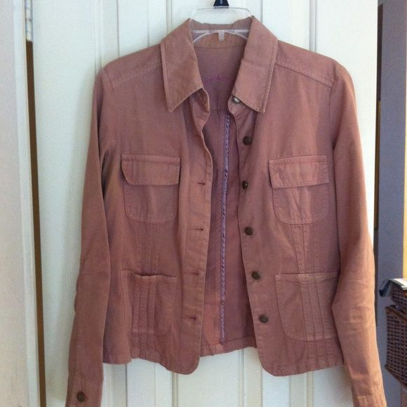 Caribbean Joe Camel Denim Jacket Worn once no damages, camel brown color denim jacket, bronze hardware buttons, long sleeve style, 4 front pockets, 100% cotton caribbean joe Jackets & Coats Jean Jackets