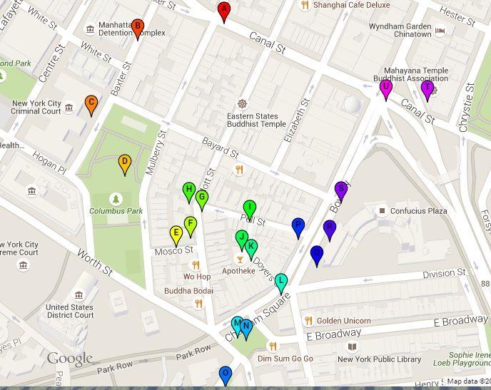Free Walking Tour Self Guided Of Chinatown New York Map Print Pdf