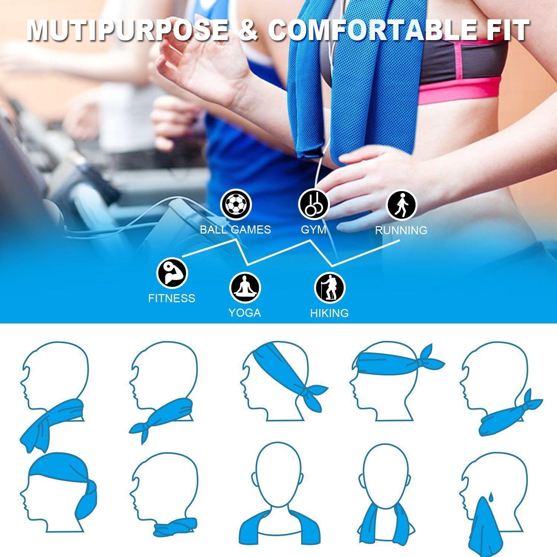 Alamoha Magic Snap Cooling Body Towel Microfiber Yoga Sports