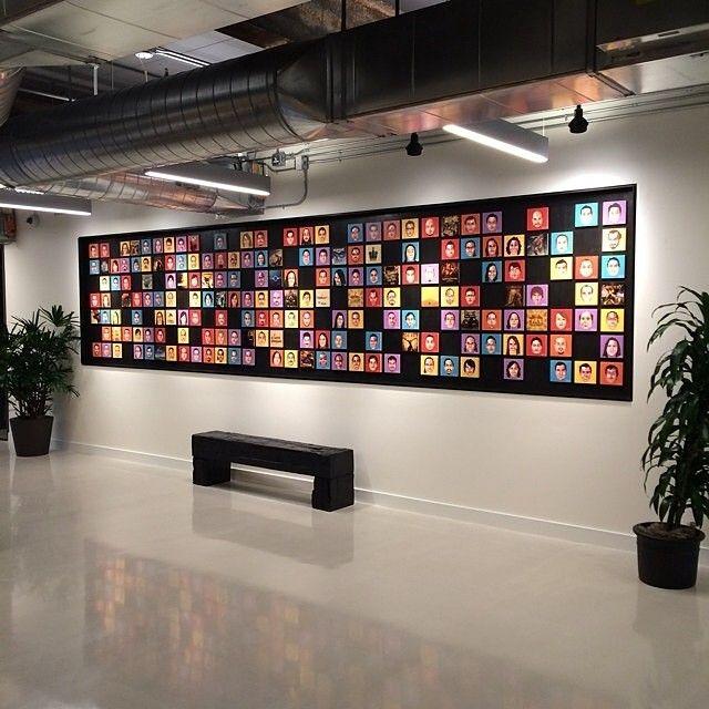 Employee wall at iam8bit | Edit Bay Ideas | Pinterest ...