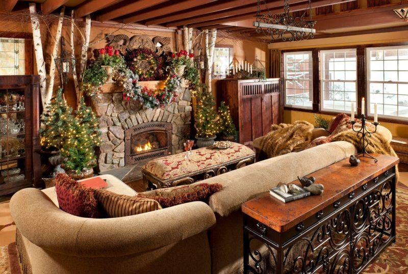 35 Ideen Fur Birkenstamm Deko Bringen Sie Die Natur In Ihre Wohnung Rustikale Wohndekoration Weihnachten Kamindekorationen Rustikales Hutten Dekor