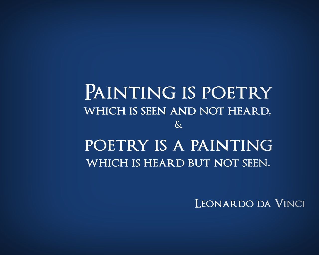 "Quotes About Painting Leonardodavinciquotespaintingpoetry  ""blue  White"