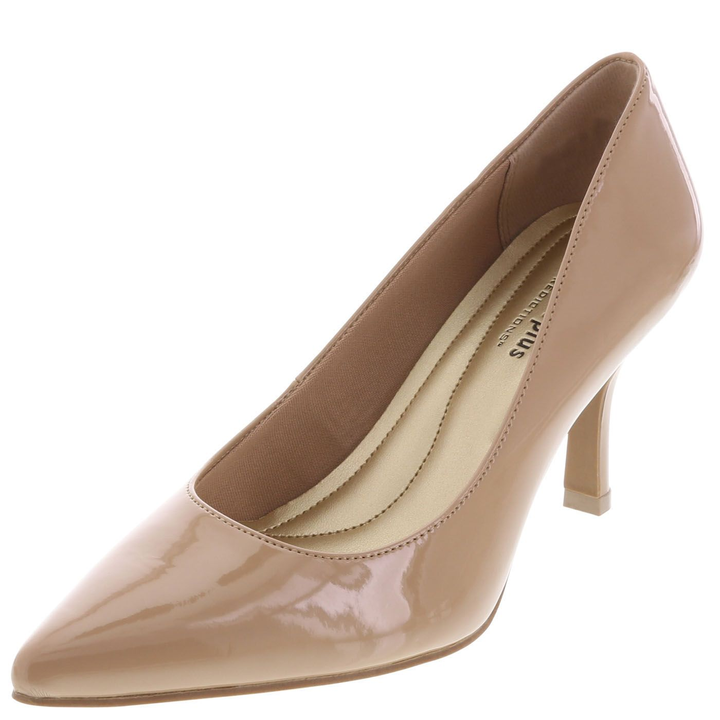 The women's Janine Pointy Toe Pump from Comfort Plus by Predictions brings  that touch of sophistication