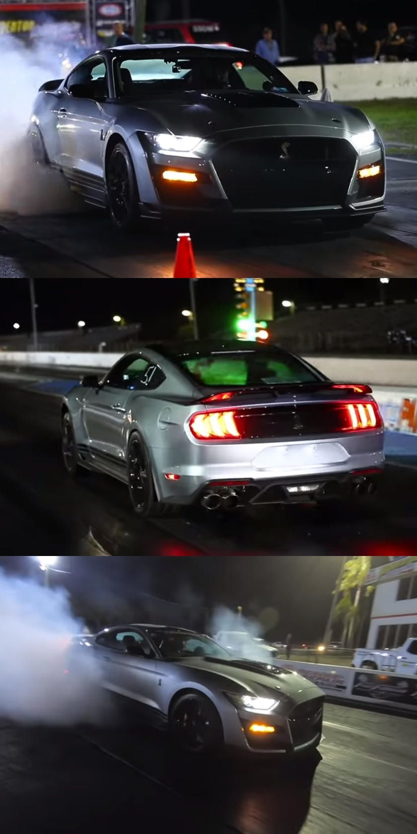 Watch A 1 000 Hp Shelby Gt500 Set A Quarter Mile Record In 2020