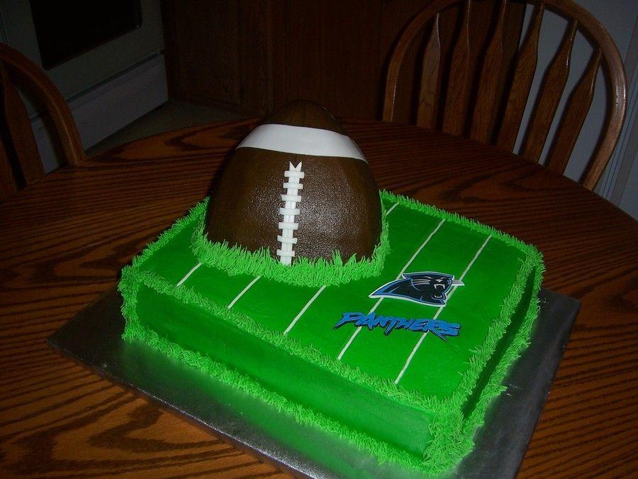 Footballfield carolina panthers cake cupcake cakes
