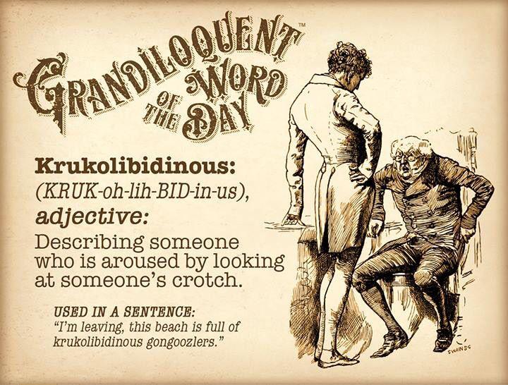 krukolibidinous | Logophile: Lover of Words | Word of the day, Words