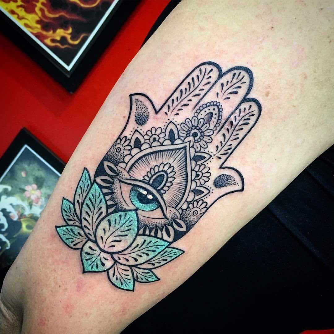 50 Deeply Symbolic Hamsa Tattoos You Can T Resist To Get Inked Hamsa Hand Tattoo Fatima Hand Tattoo Hamsa Tattoo