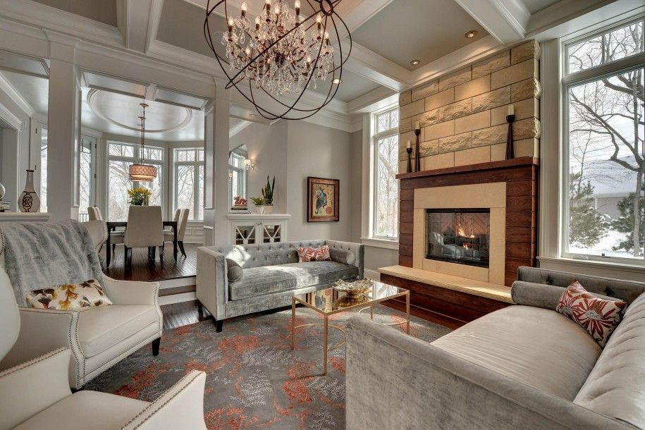 Home Design Revere Pewter Walls In Traditional Living Room New Interior Design Ideas Living Room Traditional Inspiration Design