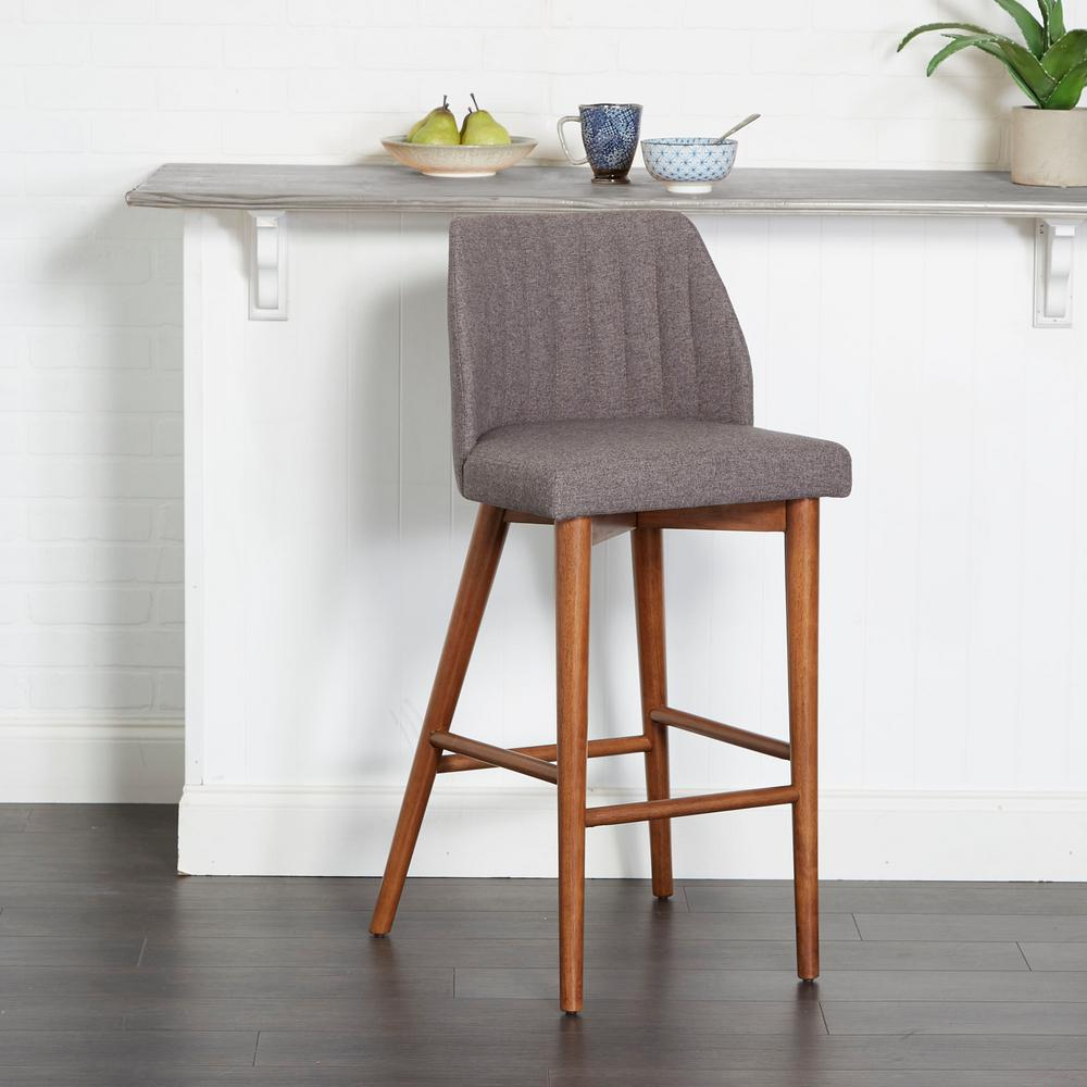 Silverwood Furniture Reimagined Mid Century 29 In Gray Wood And