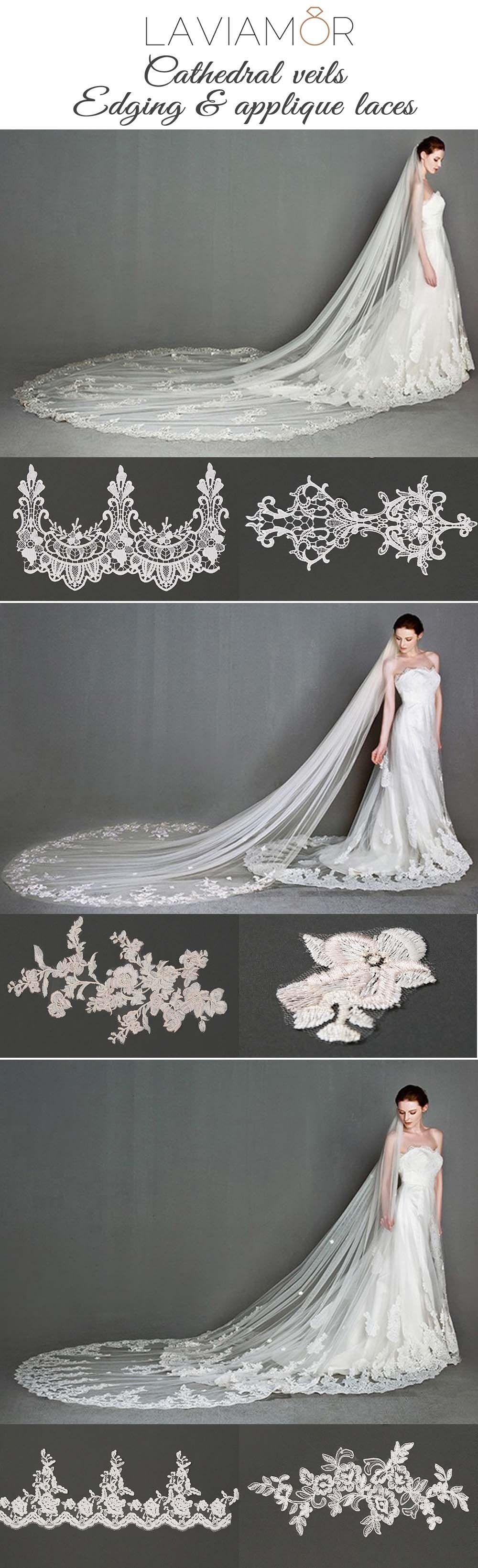 Choose cathedralmantillashort length veil beaded