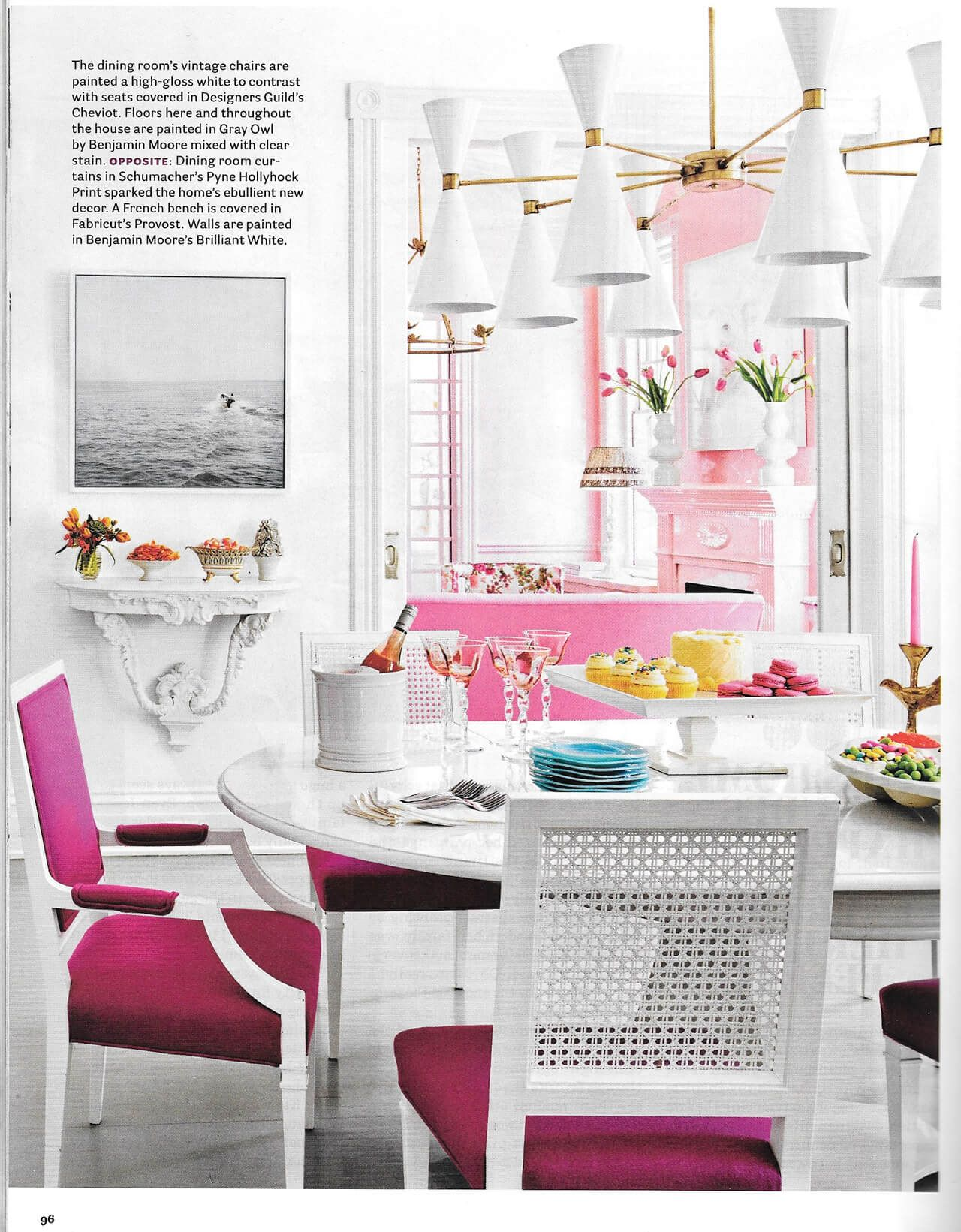 Pink Perfection: Suellen Gregory for House Beautiful | House ...