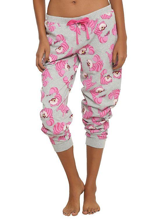 8586e2dc306d Disney Alice In Wonderland Cheshire Cat Girls Jogger Pants ...
