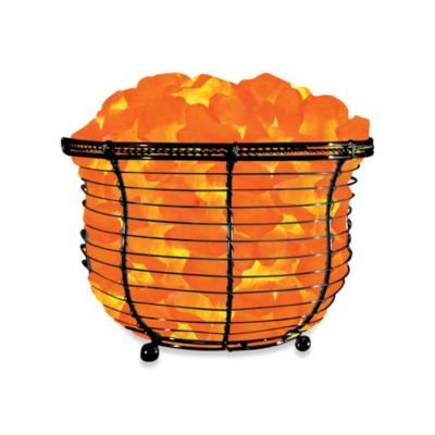 Salt Lamp Bed Bath Beyond Himalayan Glow® Ionic Crystal Salt Basket Tall Lamp  Himalayan