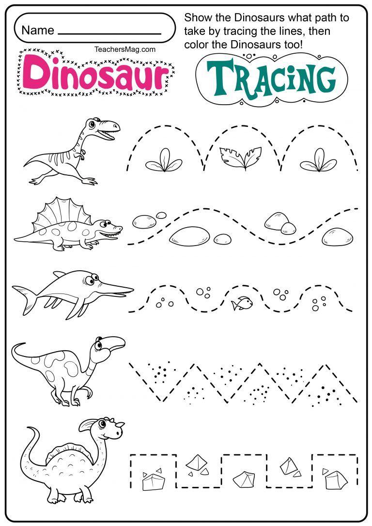 Dinosaur Letters Number Tracing Worksheets Teachersmag Com Dinosaur Activities Preschool Preschool Tracing Free Preschool Worksheets [ 1086 x 768 Pixel ]