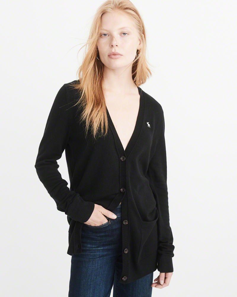 boyfriend cardigan in black | size M | abercrombie.com | the big 3 ...