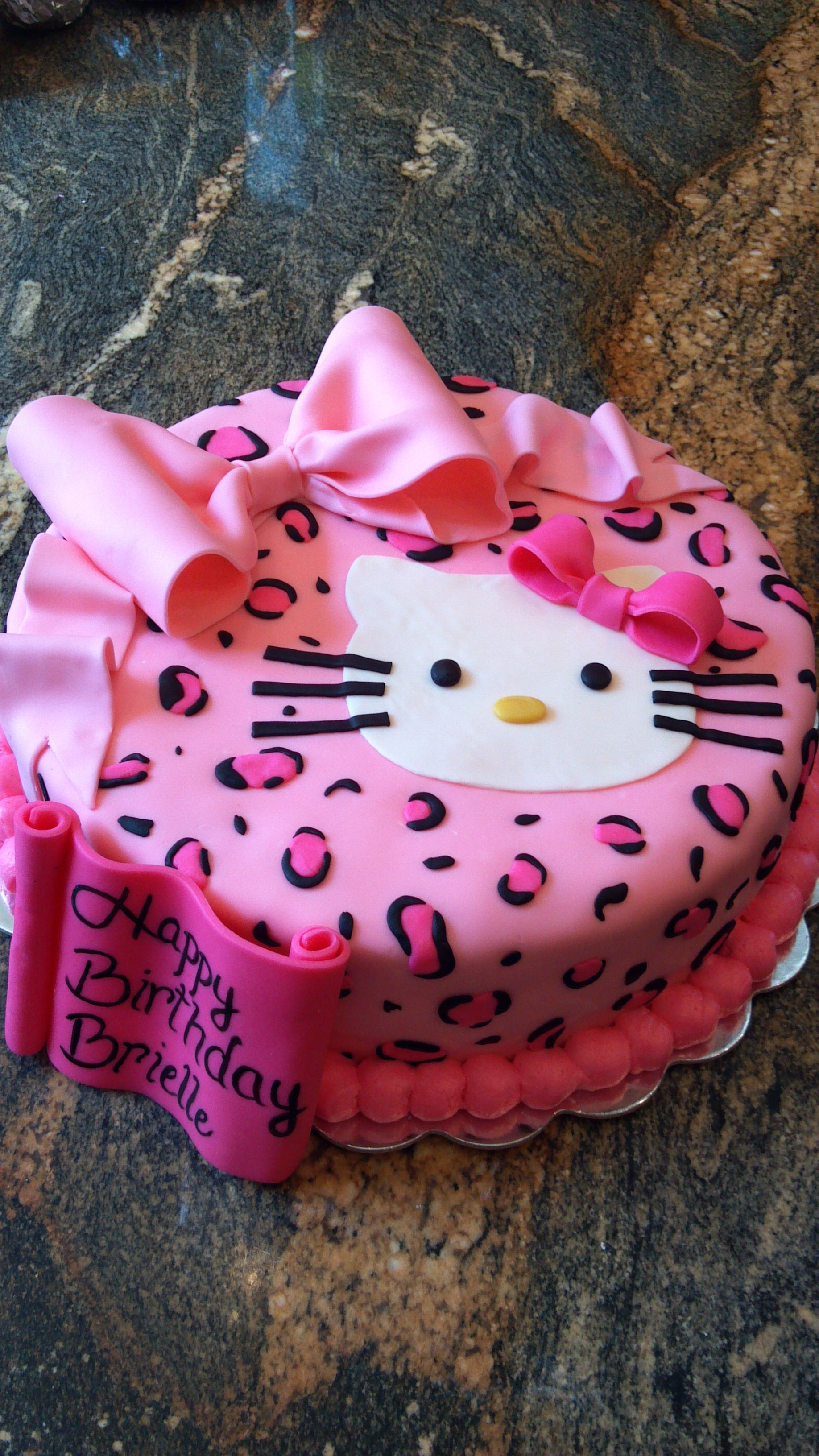 Birthday cake I did for a 3 yr old little girl Cakes