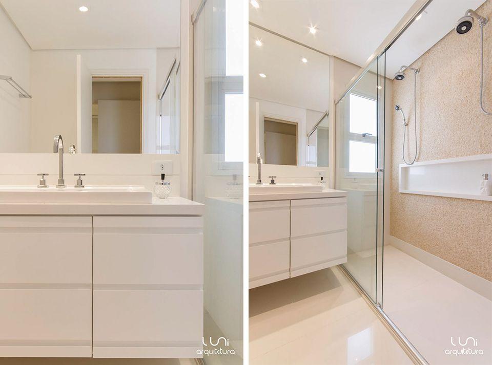 Banheiro Suite Master Casal  Projeto de Banheiro Senhor e Senhora para Suite -> Banheiro De Apartamento Com Banheira