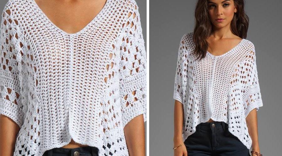 Les dejo las instrucciones de esta hermosa blusa, nos encantó la ...