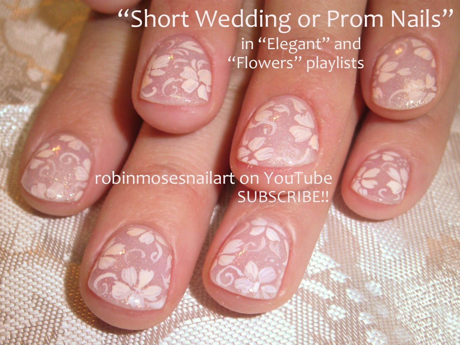 Nail-art by Robin Moses - Elegant short nails for Dates, Prom ...
