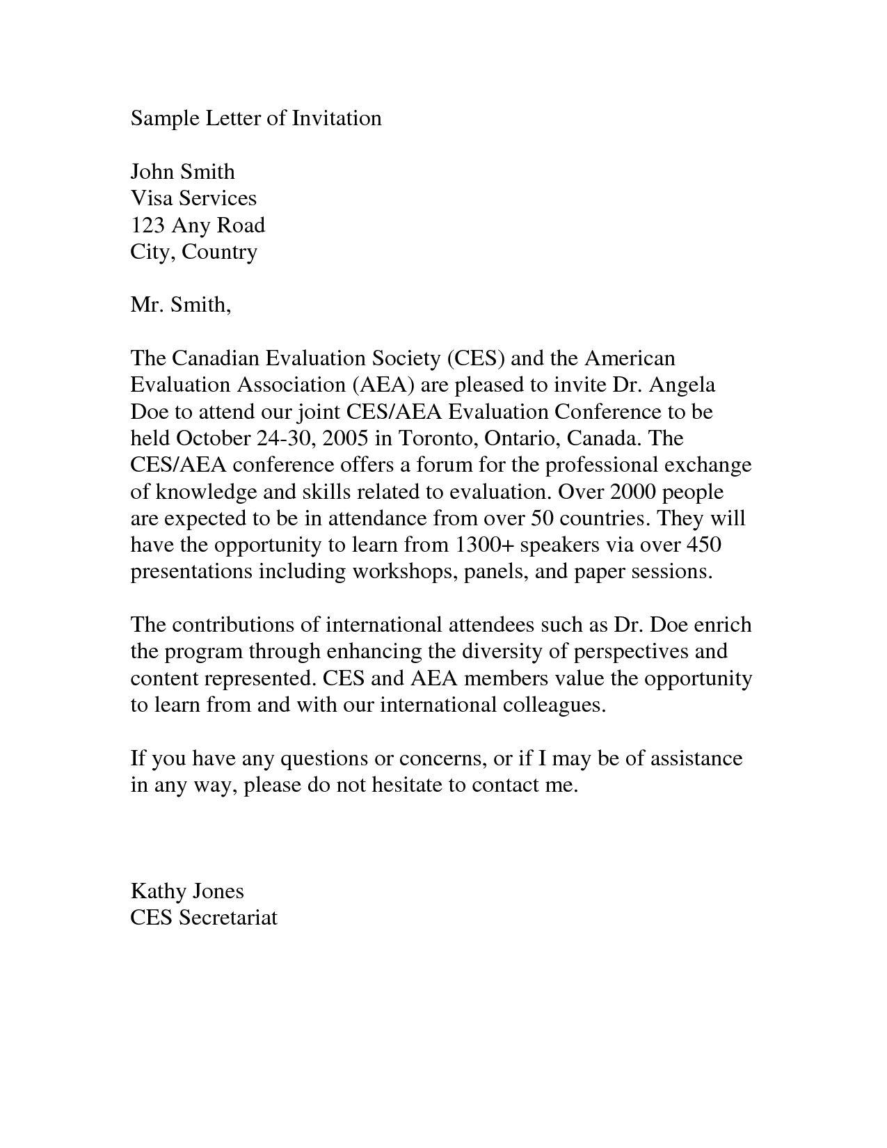 Visitor Visa Invitation Letter To Canada di 2020