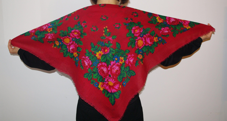 Vintage shawl.Russian Shawl.Wedding shawl.Pattern scarf.Pattern shawl.Vintage shawl.Green pattern Shawl.Wool shawl.Russian scarf shawl.