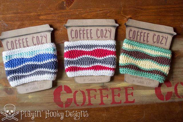 7 Free Crochet Coffee Cozy Patterns You Need To Try! #crochetapplicates