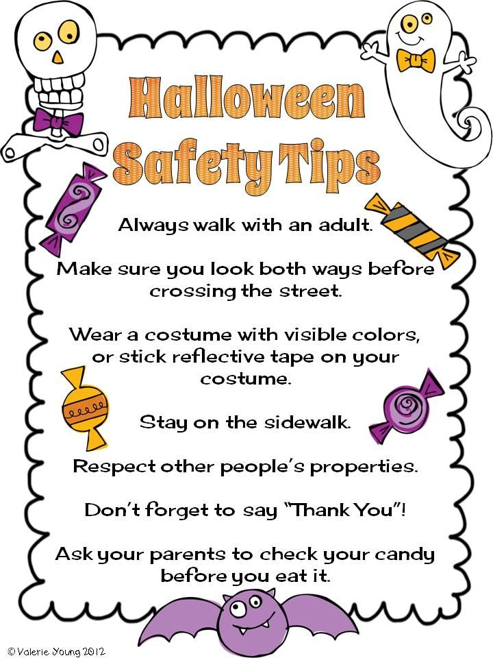 "The Lesson Cloud Halloween Safety. Should we add, ""Do"