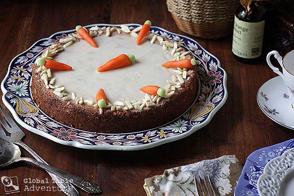 Swiss Almond Carrot Cake   Aargauer Rüeblitorte
