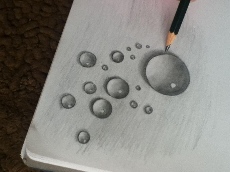 Realism Challenge Water Drop Esercizi Draw Art E Water Drawing