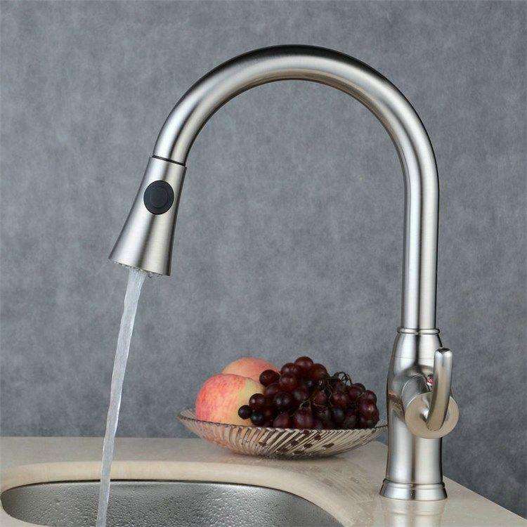 キッチン水栓 台所蛇口 引出し式水栓 冷熱混合水栓 シャワー吐水式