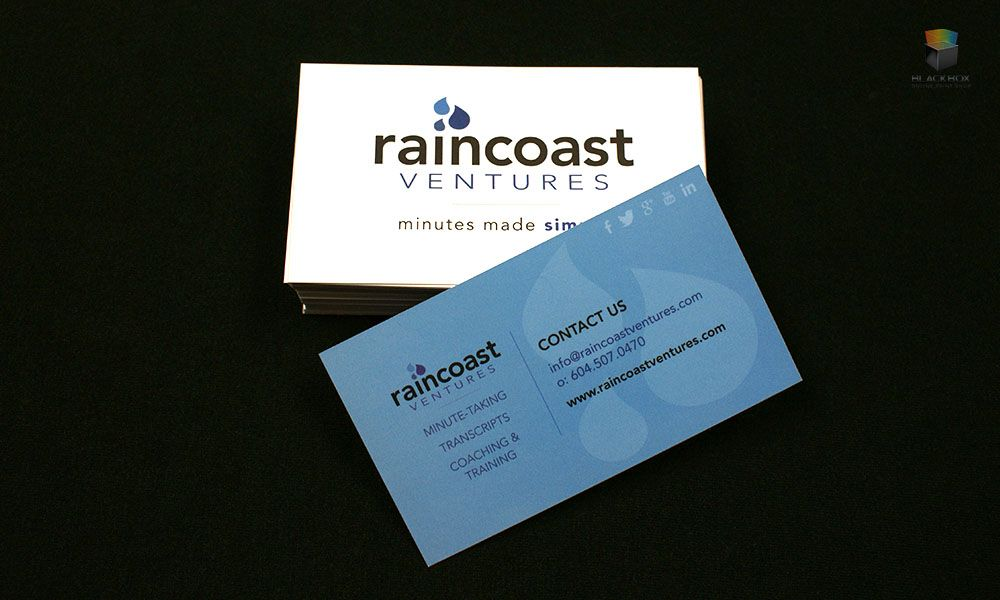 14 PT Silk Laminate Business Cards. Designed and printed by Blackbox ...