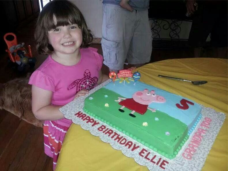 Darling Peppa Pig Birthday Cake!!! Bebe'!!! Love this idea for a child's party!!!