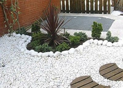 decoracin de jardines con piedras blancasjpg 400 - Piedras Jardin