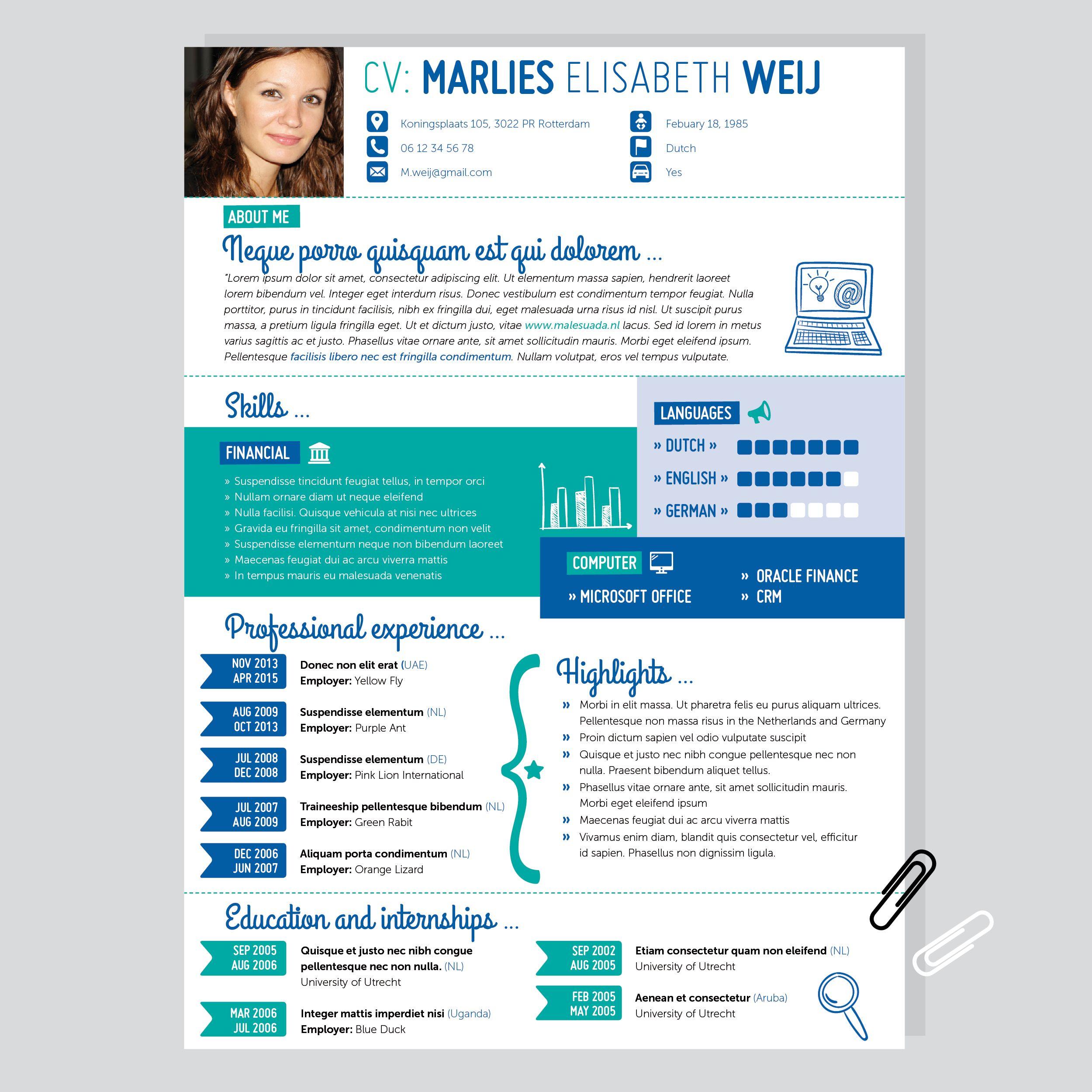 portfolio sollicitatie CV   cee vee.nl   infographic   Resume   Solliciteren   Curriculum  portfolio sollicitatie