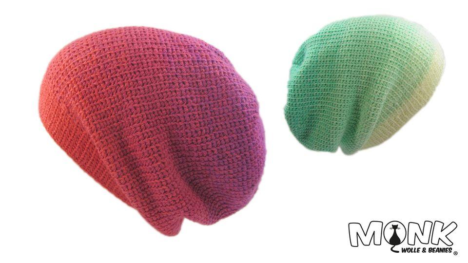 Mütze häkeln wie gestrickt - Stickstich Beanie | Känguru | Pinterest ...