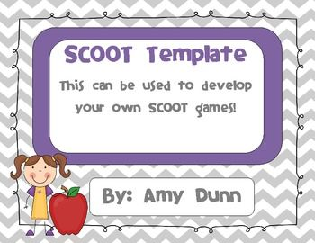 Scoot Template {editable} | scoot games | Pinterest | Template ...