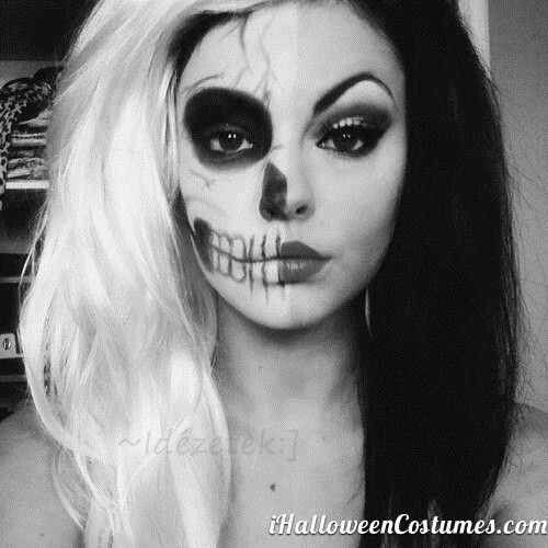 Black and White Two Face | Special Effect Makeup | Pinterest ...